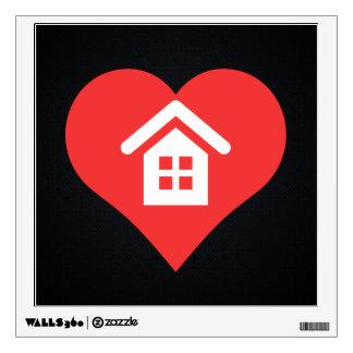Amo símbolo fresco de las casas del solo sitio