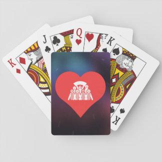 Amo símbolo fresco de las fotos del equipo cartas de juego
