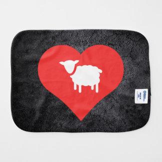 Amo símbolo fresco de los corderos paños de bebé