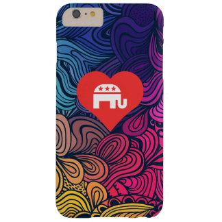 Amo símbolo fresco del Partido Republicano Funda Para iPhone 6 Plus Barely There