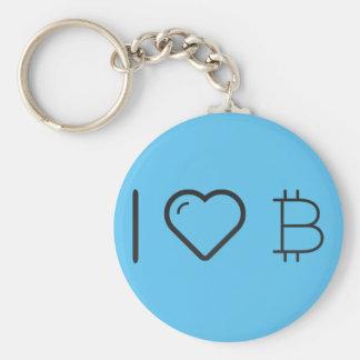 Amo símbolos monetarios llavero redondo tipo pin
