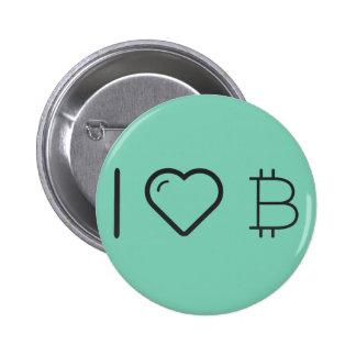 Amo símbolos monetarios pin redondo 5 cm