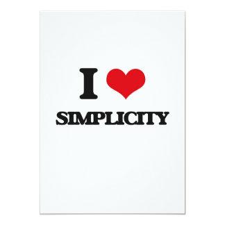Amo simplicidad invitación 12,7 x 17,8 cm