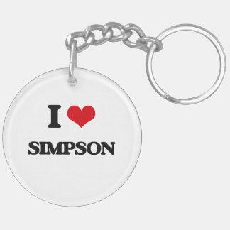Amo Simpson Llavero Redondo Acrílico A Doble Cara