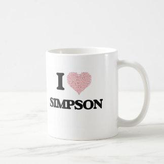 Amo Simpson Taza Clásica