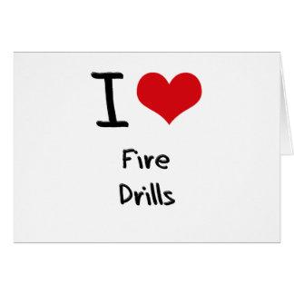 Amo simulacros de incendio tarjeta de felicitación