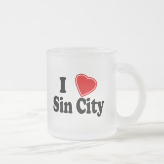 Amo Sin City Taza Cristal Mate