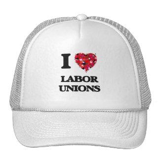 Amo sindicatos gorros bordados