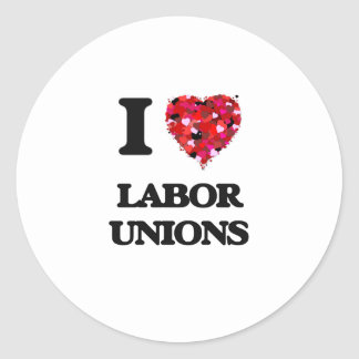 Amo sindicatos pegatina redonda