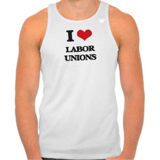Amo sindicatos playera con tirantes