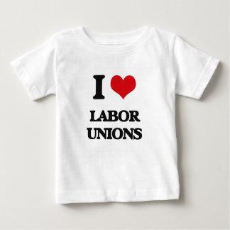 Amo sindicatos playera de bebé