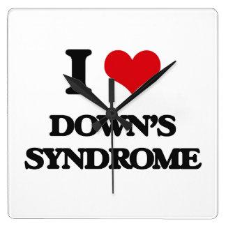Amo Síndrome de Down Reloj De Pared