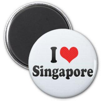 Amo Singapur Imán Redondo 5 Cm