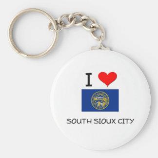 Amo Sioux City del sur Nebraska Llavero Redondo Tipo Pin