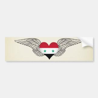 Amo Siria - alas Etiqueta De Parachoque