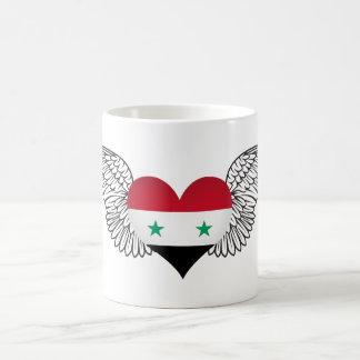 Amo Siria - alas Taza Básica Blanca
