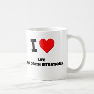 Amo situaciones de vida y de la muerte taza de café