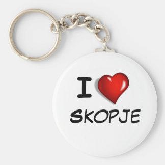 Amo Skopje Llavero Personalizado
