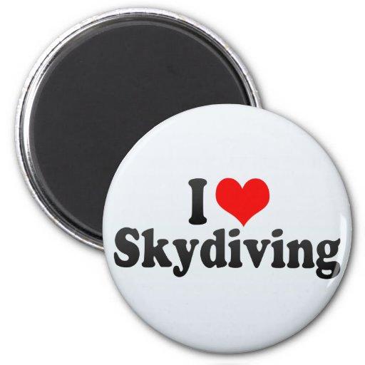 Amo Skydiving Imán De Frigorifico