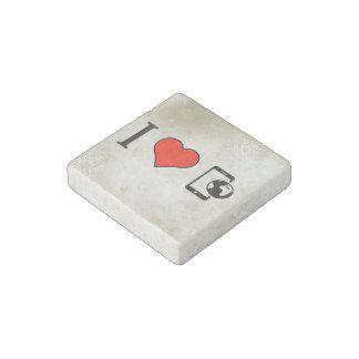 Amo smartphones imán de piedra