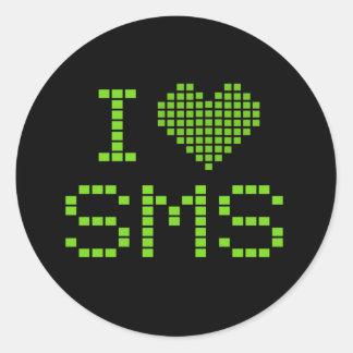 AMO SMS - pegatina
