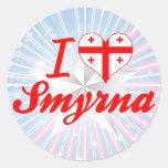 Amo Smyrna, Georgia Etiquetas Redondas