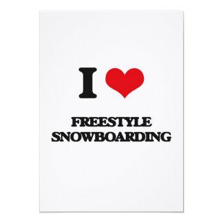 Amo snowboard del estilo libre comunicados personalizados