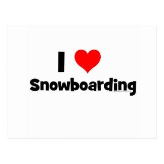 Amo snowboard postales
