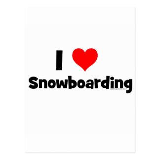 Amo snowboard tarjetas postales