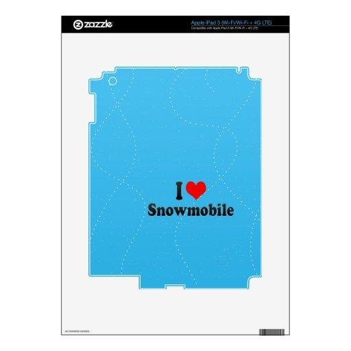Amo Snowmobile Pegatina Skin Para iPad 3
