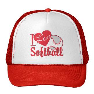 Amo softball gorro de camionero