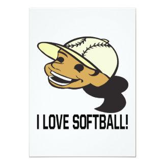 """Amo softball invitación 5"""" x 7"""""""