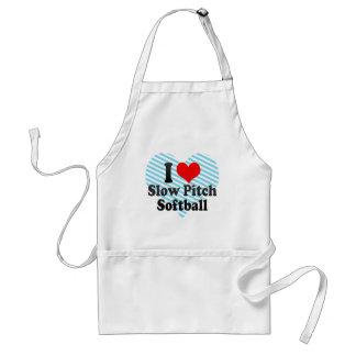Amo softball lento de la echada delantales