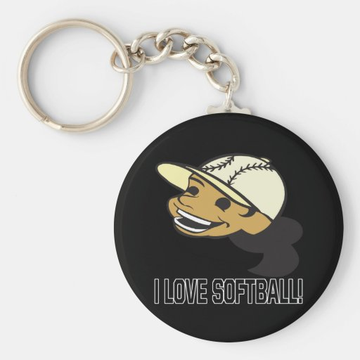 Amo softball llavero