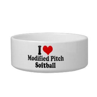 Amo softball modificado de la echada tazones para agua para gatos