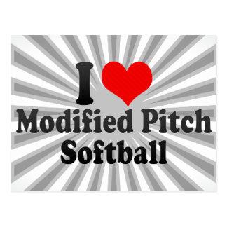 Amo softball modificado de la echada postales