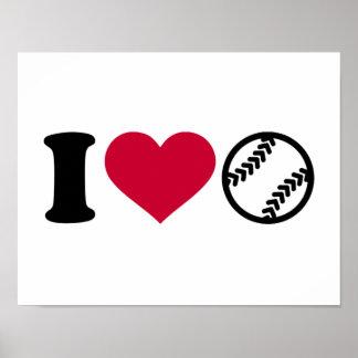 Amo softball póster