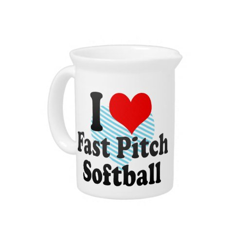 Amo softball rápido de la echada jarrones
