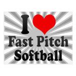 Amo softball rápido de la echada postal