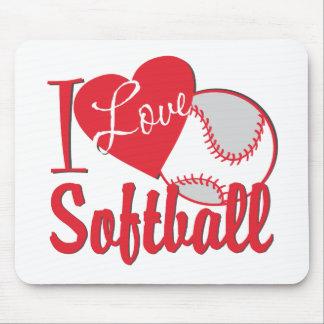 Amo softball tapete de raton