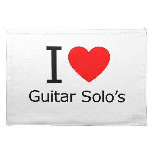 Amo solo de la guitarra mantel