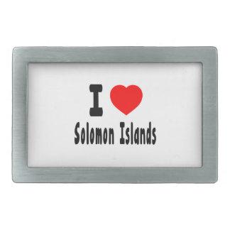 Amo Solomon Island. Hebilla De Cinturón Rectangular
