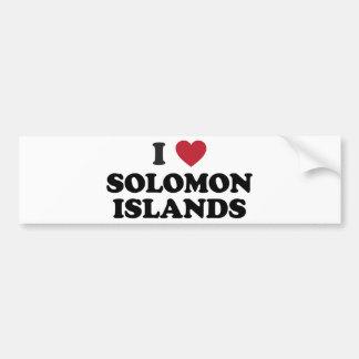 Amo Solomon Island Pegatina Para Auto
