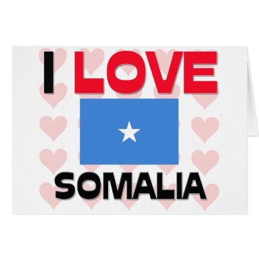 Amo Somalia Tarjeta De Felicitación