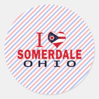 Amo Somerdale Ohio Pegatina Redonda
