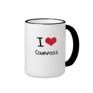 Amo sondeo taza de café