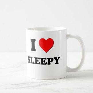 Amo soñoliento tazas
