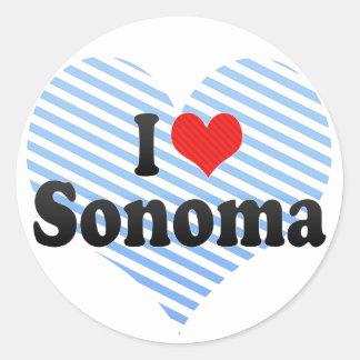 Amo Sonoma Pegatina Redonda