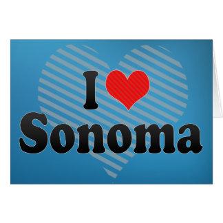 Amo Sonoma Tarjetas
