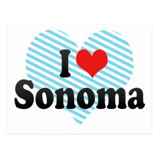 Amo Sonoma Tarjetas Postales